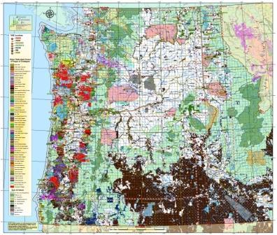 Western Oregon Ownership Map [Western Oregon] - $195.00 : Zen Cart ...